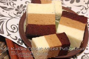 Curlybabe's Satisfaction: Kek Kukus Coklat Mocha Putih Telur