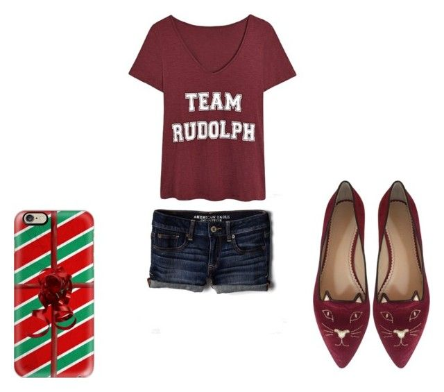 Sin título #131 by fashiongirl-cdxx on Polyvore featuring moda, American Eagle Outfitters, Charlotte Olympia and Casetify