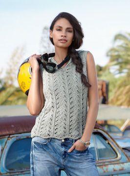 Ein Top für den Sommer stricken - Strickanleitung via Makerist.de