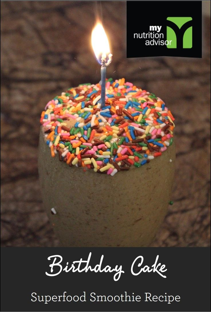 Birthday Cake Superfood Smoothie Recipe! Extremely healthy superfood smoothie. Contains over 10 different superfoods in the Ancient Delight Superfood Mix we are using. Click on the image for the recipe. #mnasmoothie