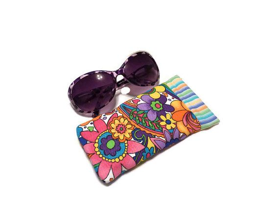 Sunglass Case Sunglasses Case Bright Floral by DianesDiversions