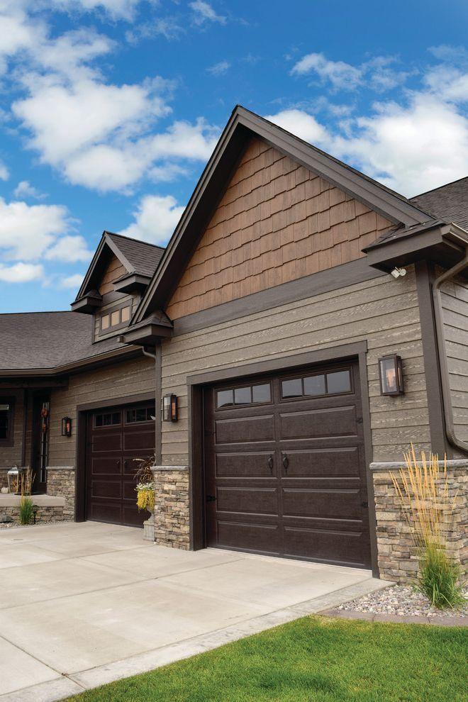 Faux Wood Peaks Dark Brown Accents Exterior Siding Colors House Paint Exterior Craftsman Exterior