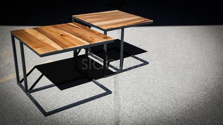 Стол Geometria Прикроватные столики измассива ореха, завораживающие своей геометричностью. Подробнее здесь: http://amp.gs/TxHO #стол #столешница #спальня #дизайнспальни #гостиная #дизайнинтерьера #мебель #мебельназаказ #slab #издерева #мебельиздерева #interior #eco
