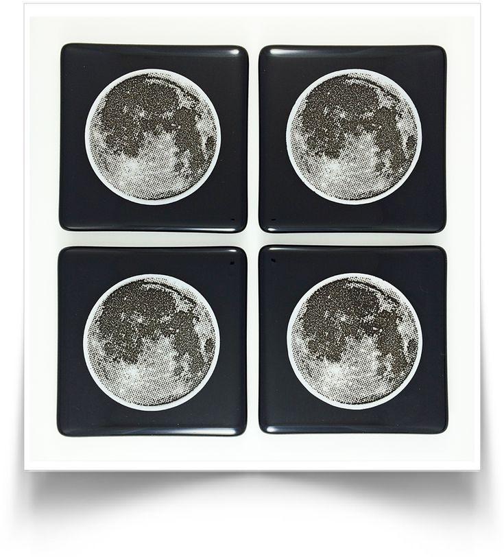 Moon Coasters - Black