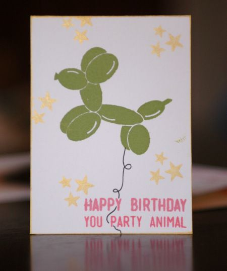 Sara's take on the card kit - Party Animal by Lawn Fawn.