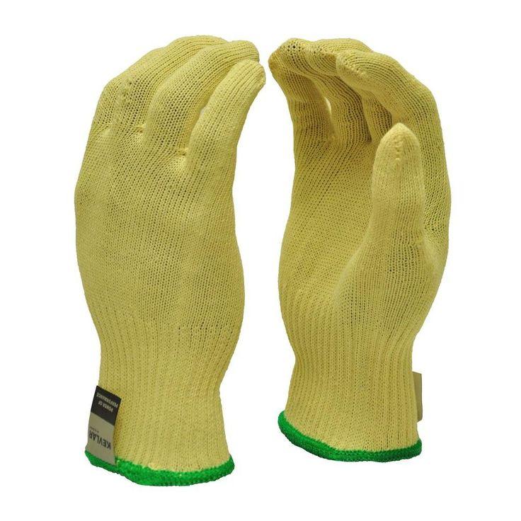 Cut Resistant X-Large 100% DuPont Kevlar Gloves, Yellow