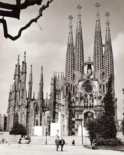 Sagrada Familia Barcelona- Vintage Photography Print. $28.00, via Etsy.