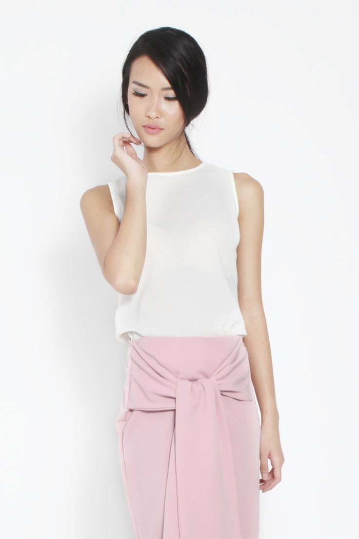 Fancy Tie Knot Skirt and Pamela Top by kim.