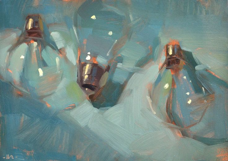 Carol Marine's Painting a Day: Light on the Bulbs