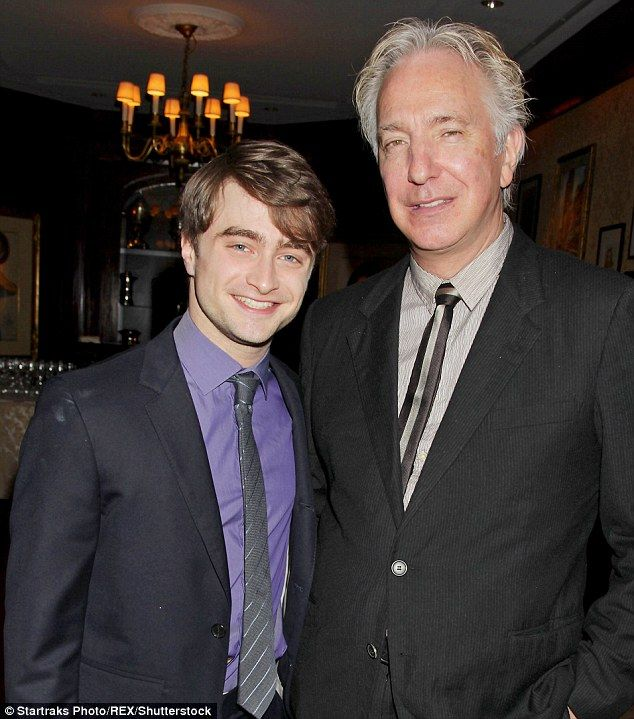 Great loss: Daniel Radcliffe drove the outpouring of grief from Harry Potter stars on social media on Thursday afternoon, following the sudden loss of Professor Severus Snape actor, Alan Rickman