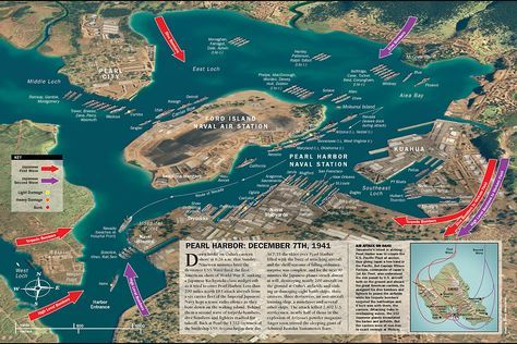 Pearl Harbor was an American Naval base. Far into the pacific and effectively blocking Japan from attacking America Directly. The Japanese made Pearl Harbor a target, and without America even being in the war Japan bombed Pearl Harbor.