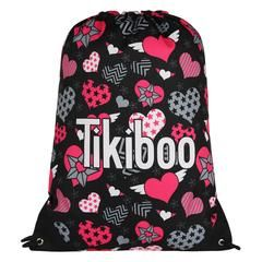 Tikiboo Heart Beatz Drawstring Bag £14.99 #Activewear #Gymwear #FitnessLeggings #Leggings #Tikiboo #Running #Yoga  #GymBag