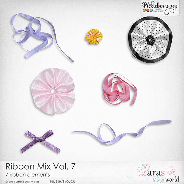 CU Ribbon Mix Vol. 7 by Lara's Digi World