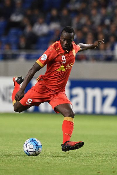 Baba Diawara of Adelaide United kicks the ball during the AFC Champions League Group H match between Gamba Osaka v Adelaide United at Suita City Football Stadium on April 25, 2017 in Suita, Japan.