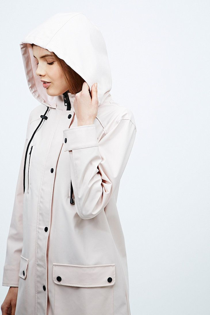 Sparkle & Fade 4-Pocket Raincoat in Pink - Urban Outfitters