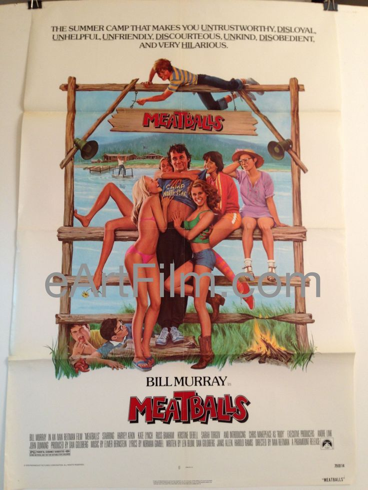 Meatballs 1979 27x41 Bill Murray Original U.S One Sheet