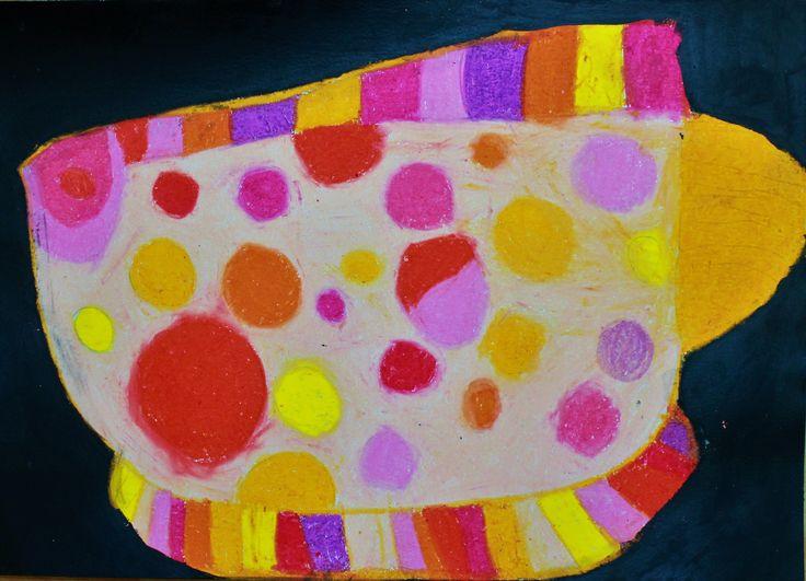 Alyssa 6yrs Fish in oil pastel