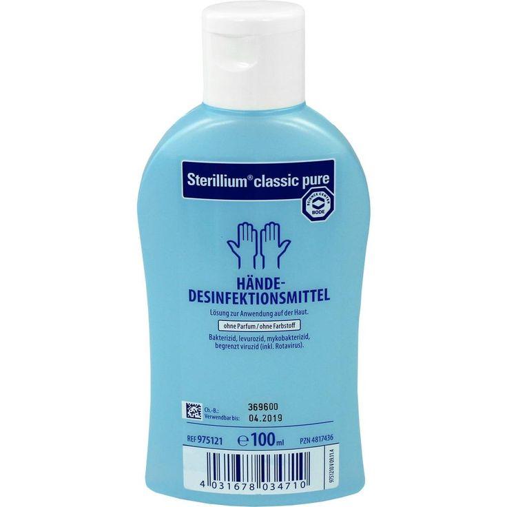 STERILLIUM Classic Pure Lösung Händedesinfektionsmittel:   Packungsinhalt: 100 ml Lösung PZN: 04817436 Hersteller: PAUL HARTMANN AG…