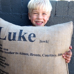 Kids Dictionary Pillow by Hampsons Homewares  Leo / Sienna