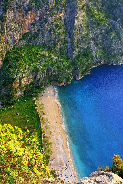 The Butterfly Valley near Fethiye in southern Turkey (by volkan.andac).