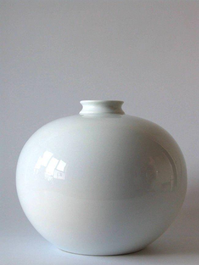Vintage Limoges grote ronde porseleinen vaas - Vintage