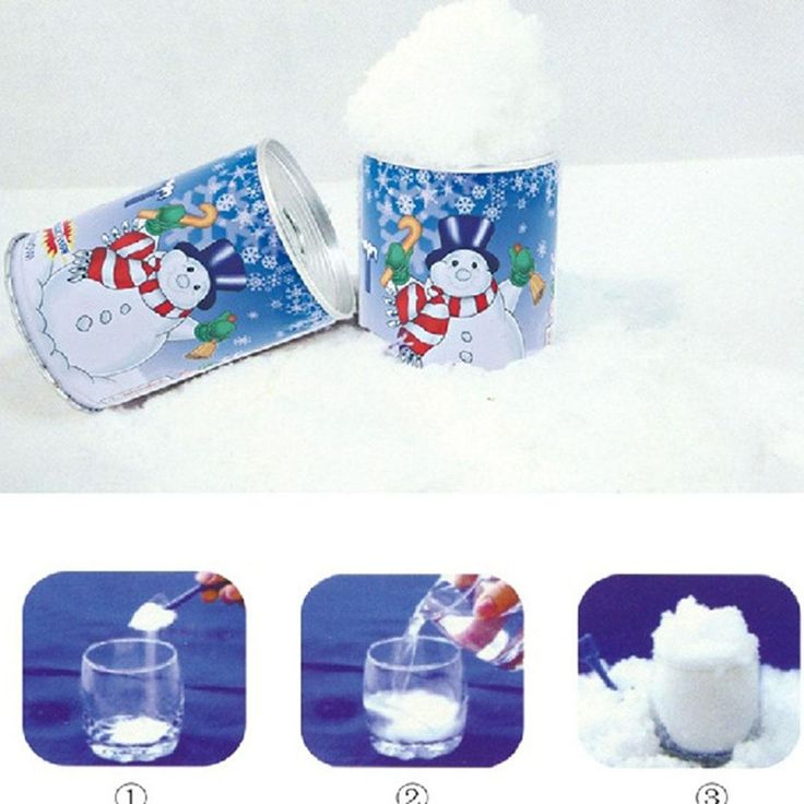 [Visit to Buy] 2017 Fashion Instant Snow Man-Made Magic Artificial Snow Powder Christmas Decoration DIY Children Gifts #Advertisement