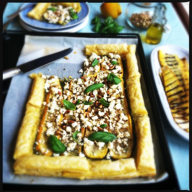 Courgette taart met basilicum & feta. Dankjewel @Made by Ellen!