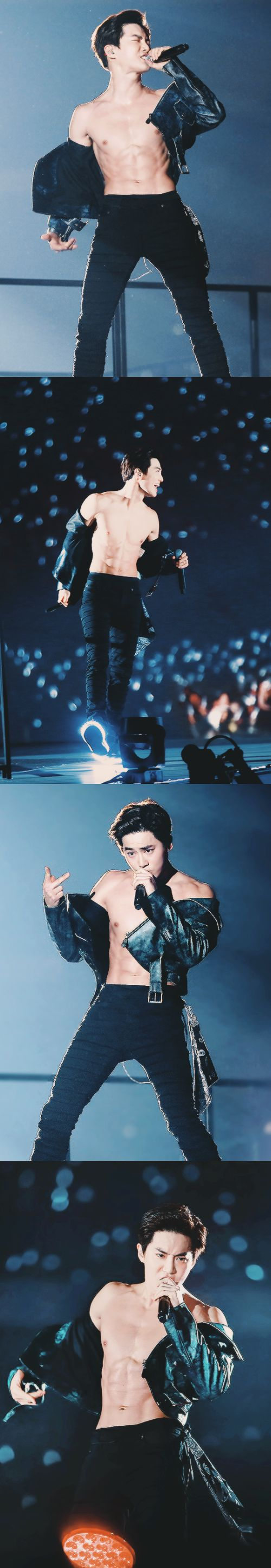 Shirtless Suho to ruin your bias list