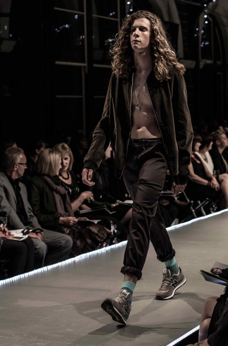 Abram wearing our Bomber and Chinos at Dunedin's 2013 ID fashion week