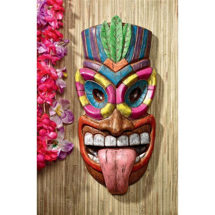 """The art of modern Polynesian pop culture is alive and well in this tiki wall plaque that dishes up true island style! Maika 'l' ole, meaning """"bad,"""" sticks out his tongue to show he's true tiki trouble. Our over foot tall, hand-painted, designer resin plaque adds an instant, Design Toscano-exclusive island retro feel to home, garden wall or poolside terrace. Mahalo! Be sure to catch his Polynesian partner Hoaloha, AL-1865.7½""""Wx2½""""Dx16""""..."""