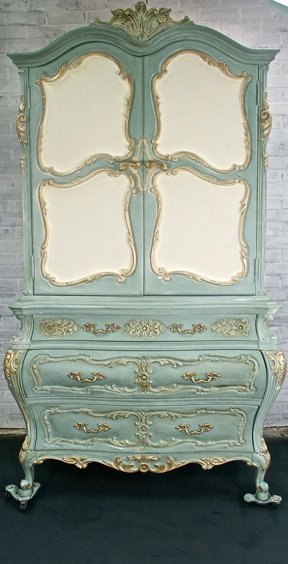 This will be in my home soon!  SO excited!!!  Romantic Vintage French Provincial Chest of by TheYardleyCottage