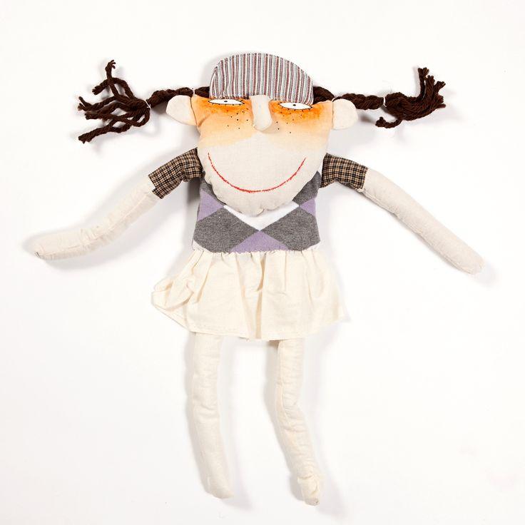 Golfin girl hand sewn doll. Buy it on www.birdiecountry.com golf gift, golf gifts idea, golf gifts for women