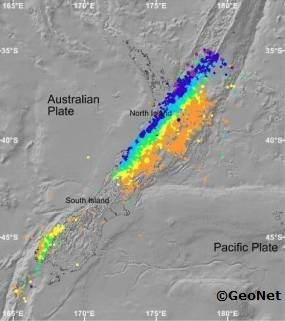 STUDENT ACTIVITY: In this activity, students use maps to plot a graph of earthquakes under New Zealand to show the shape of the North Island subduction zone and compare this to the distribution of earthquakes in the South Island.