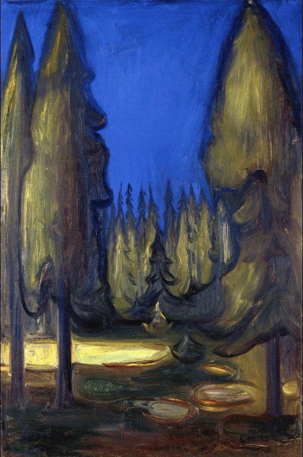Dark Spruce Forest 1899 Edward Munch 1863 1944 Эдвард