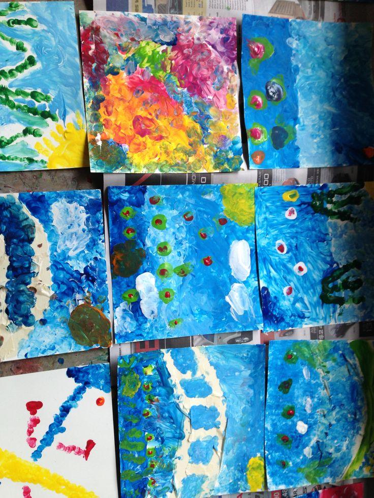 Monet-inspired paintings - Grade 1/2.