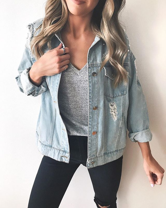 9bbc278f485 Found the perfect dupe to that pearl embellished Free People jacket! This  one is only