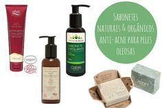 Sabonetes faciais naturais e orgânicos anti-acne para peles oleosas
