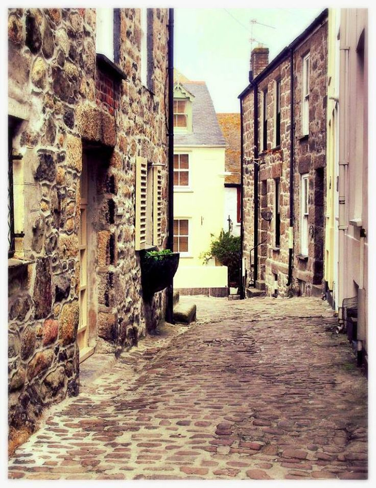 Fisherman's cottages in Downalong, St Ives, Cornwall