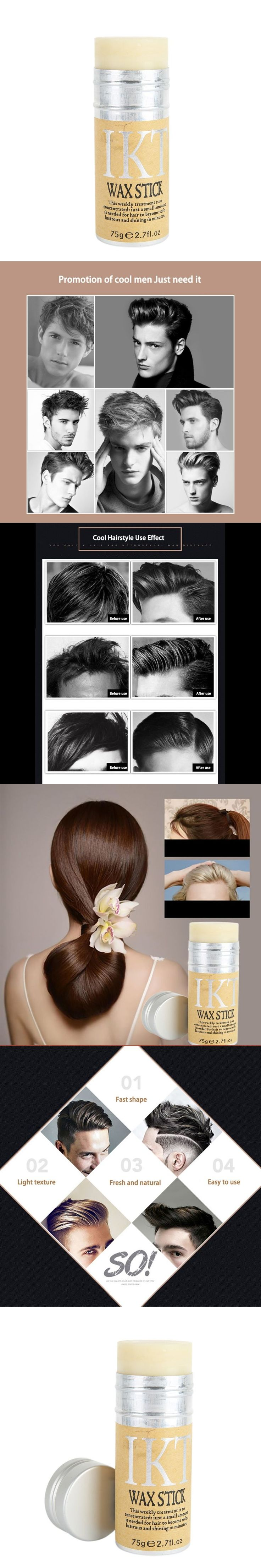 New Arrival Styling Pomade Stick Rapid fixed Repair hair Smell Fresh not oily Eemale Hair Wax Rod Broken Hair Finishing