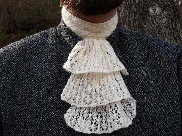 Knitting Pattern Shawl With Cuffs : Shetland Lace Jabot and Cuffs by Joannie Newsome Free Knitting Patterns (Ca...