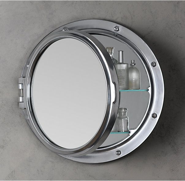 Royal Naval Porthole Mirrored Medicine Cabinet $529