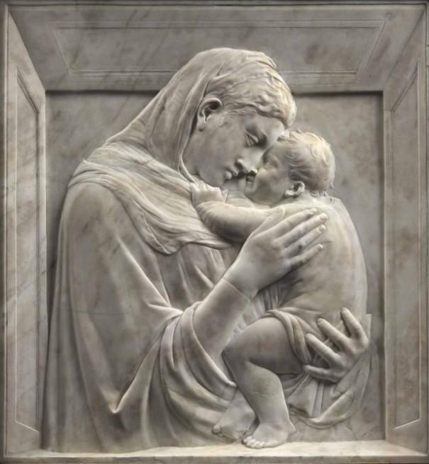 Donatello - Madonna Pazzi, 1420. Schiacciatto.Mármol. 75x70.Museo Bode Berlín.