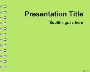 Green School Homework PowerPoint Template PPT Template