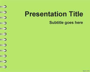 Plantilla PowerPoint Verde de Tareas escolares