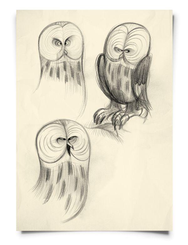 Owls by Frank Josten, via Behance
