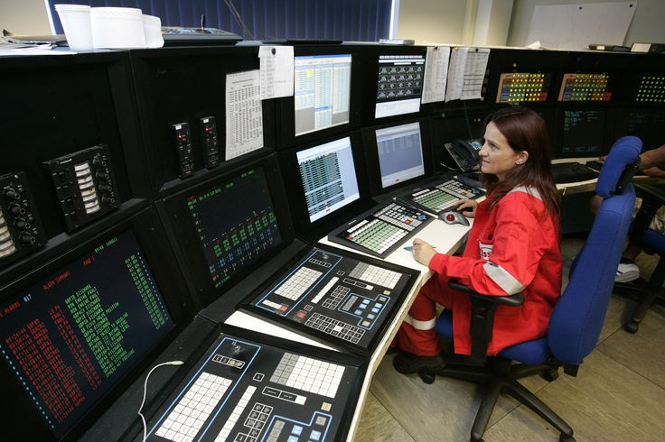 ExxonMobil Fawley site Inside the plant control room at