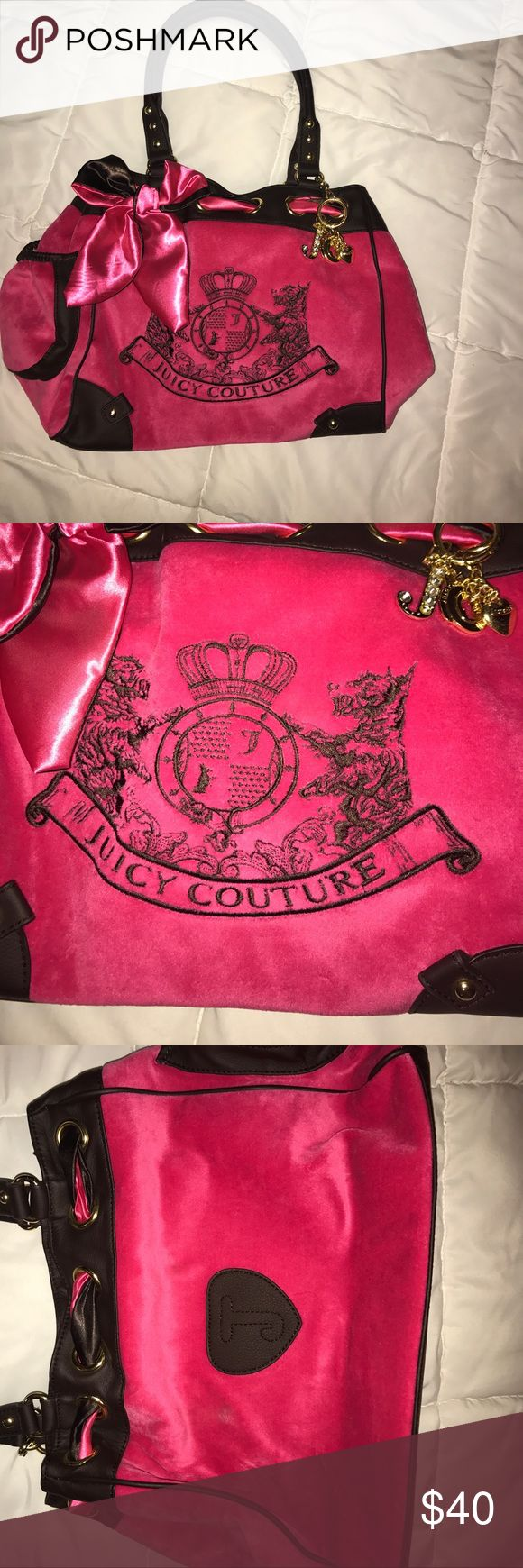 Hot pink juicy purse NWOT Super cute Juicy Couture purse! Never used! Lots of room for the woman who loves carrying tons of stuff like I do! Juicy Couture Bags