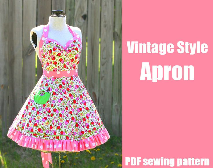 New Vintage Style Apron Pattern, plus a freebie! « DiY crafts, free sewing tutorials & kickass clothing patterns – WhatTheCraft.com
