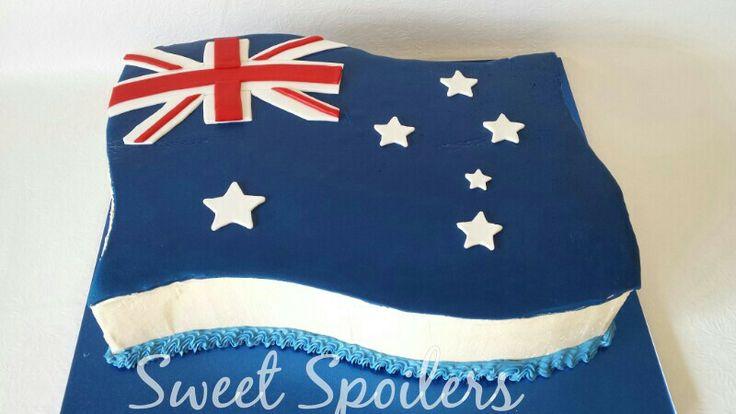 Australia Day themed cake