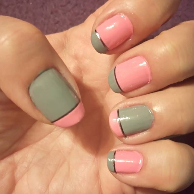 #greynails#pinknails
